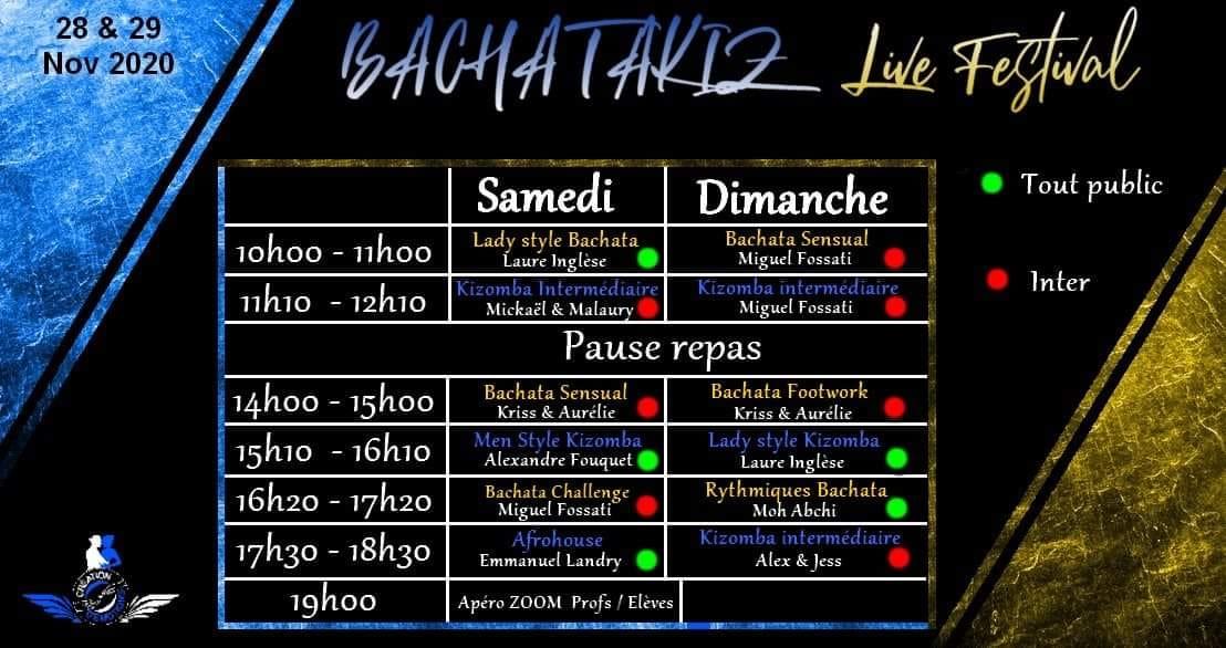 The Bachatakiz Live Festival in November 2020