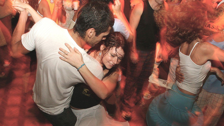 Europeans dancing Latin music