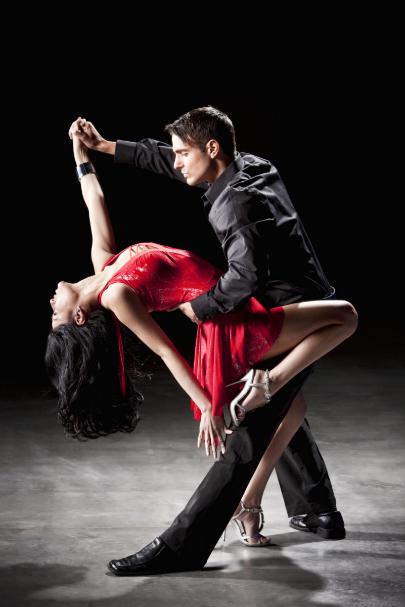 Dancing salsa with elegance and style