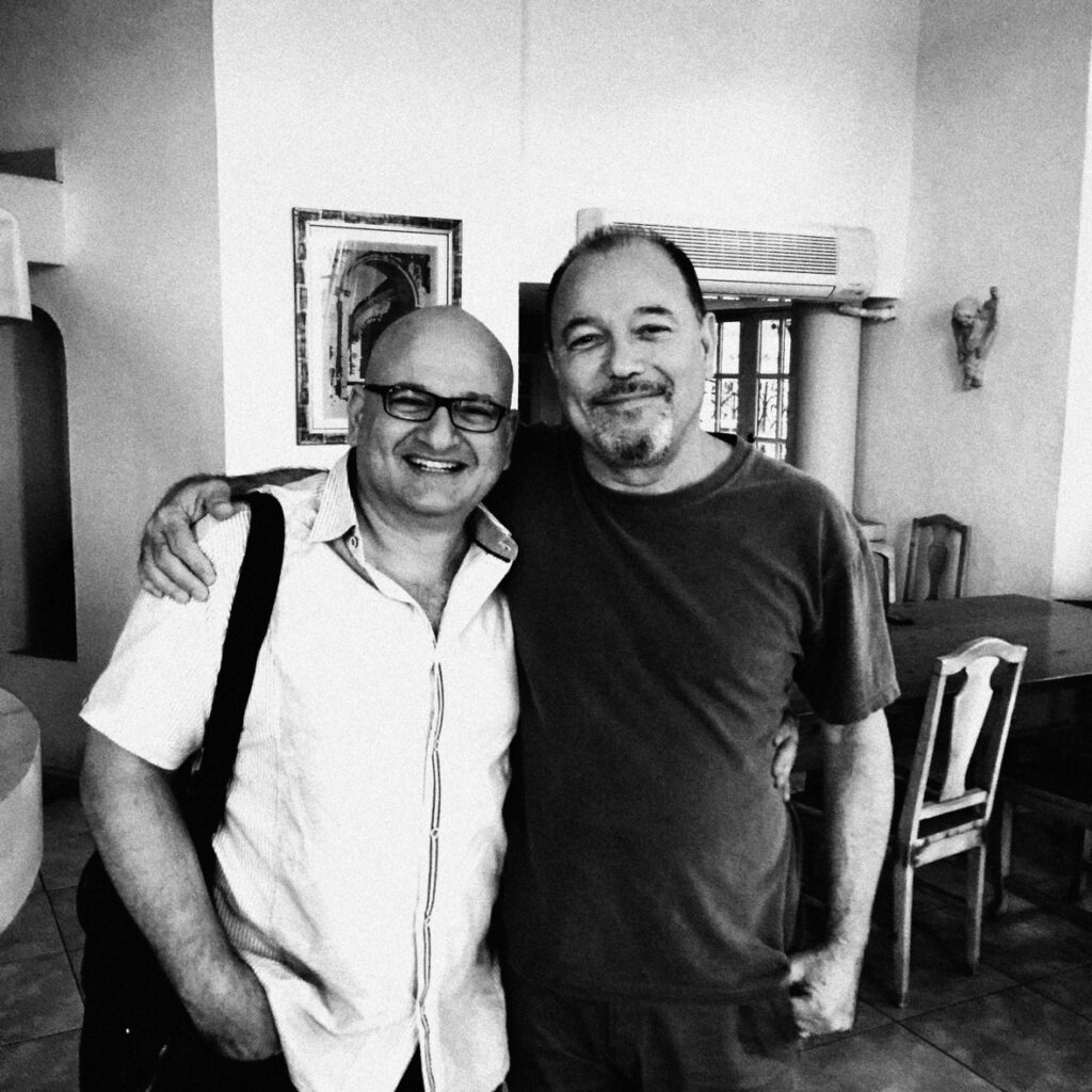 Fahed and Ruben Blades together.
