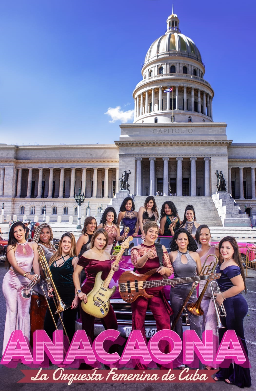 """ANACAONA, with more than 85 years of uninterrupted work, is one of the first level groups of Cuban popular music and is considered """"The Insigne Female Orchestra of Cuba""""."""
