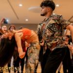 Couple of instructors dancing