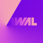 AWAL logo in Pink, Violet and Cream color