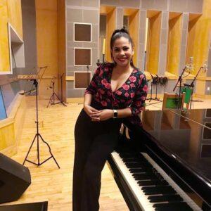 Yamira Blanco in the music studio