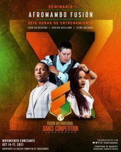 Flyer de Fusion Internacional Dance Competition 2021