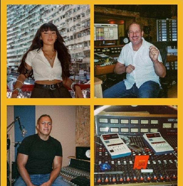 Gia Fu, Ángel Meléndez y Ralph Riley en Rolo's Studio, Guaynabo, Puerto Rico
