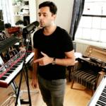 Fadi Gaziri in his recording studio with pianos around