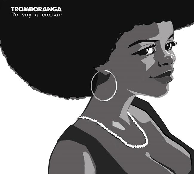 Black and white African American woman illustration from Tromboranga album cover