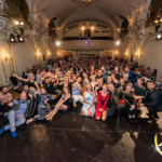 All the members gathered in the main hall of the All Stars Festival in Budapest